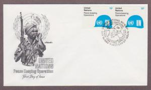 UN # 320 , Peace Keeping Operations Pair on Artmaster FDC - I Combine S/H