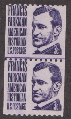1297 Francis Parkman F-VF MNH coil line pair (shinny gum)
