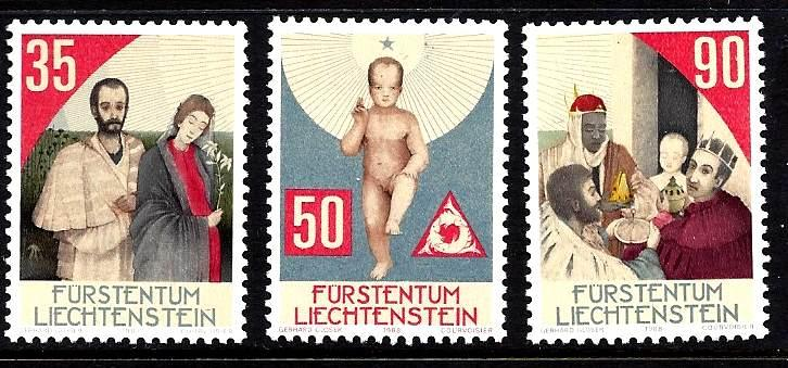 Liechtestein Scott #895-7 set  MNH