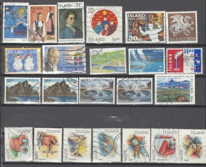 COLLECTION LOT # 2529 ICELAND 23 STAMPS 1989+ CV+$21 CLEARANCE