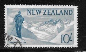 New Zealand 351: 10/- Tasman Glacier, used, F-VF