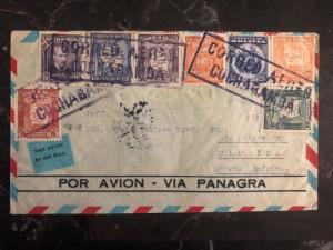1933 Cochabamba Bolivia First Flight Cover FFC To St Petersburg FL USA Panagra