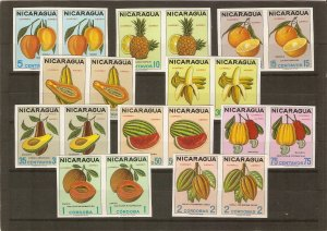 Nicaragua 1968 fruits imperforate
