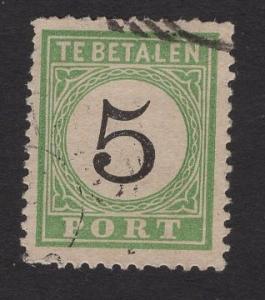 Netherlands Antilles #J2  used  1889 postage due 5c