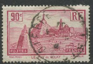 France - Scott 290 - General Issue -1933 - Used -Single 90c Stamp