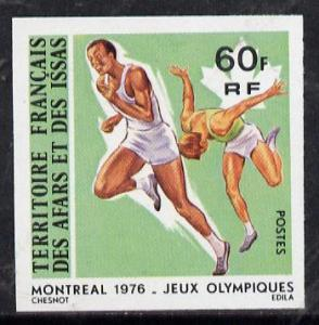 French Afars & Issas 1976 Montreal Olympics 60f Runni...