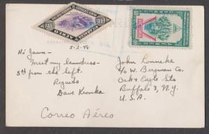 1948 Nicaragua air mail post card to Buffalo, N.Y.   gorgeous stamps!