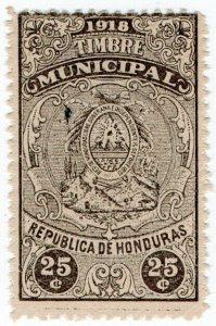 (I.B) Honduras Revenue : Duty Stamp 25c