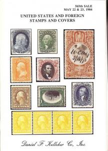 Kelleher: Sale # 565  -  United States and Foreign Stamps...