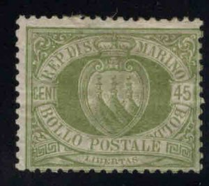 San Marino Scott 19 MH* 1892 stamp