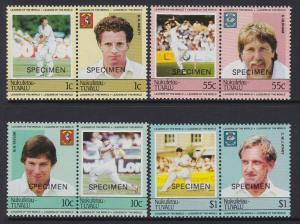 Tuvalu Nukufetau 1985 Cricket Specimen MNH