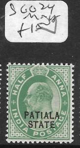 INDIA PATIALA (P2309B) KE 1/2A  SG 24  MNH