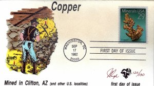 Pugh Designed/Painted Copper Mining FDC...120 of 130 created!