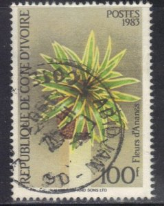 IVORY COAST SC# 703 USED 100f 1983    SEE SCAN