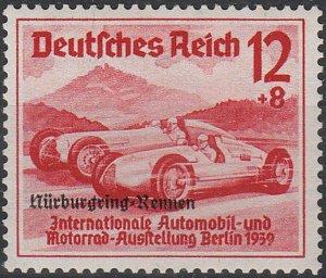Stamp Germany Mi 696 Sc B142 1939 WW2 Nuremburg Race Berlin Benz Car OP MH
