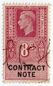 (I.B) George VI Revenue : Contract Note 8/-