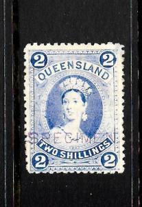 QUEENSLAND 1882-95  2/-   QV   MH SPECIMEN     SG 157s  ...