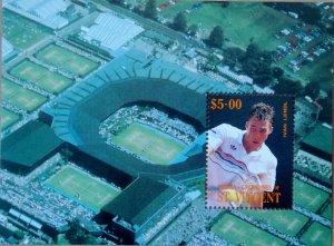 1988 Tennis Player Ivan Lendl MNH Miniature Sheet from Bequia-Grenadines of S...