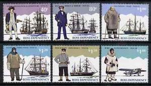Ross Dependency 1995 Antarctic Explorers set of 6 unmount...