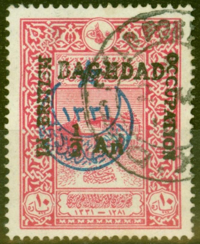 Baghdad 1917 In British Occupation 1/2a on 10pa Carmine SG20a P.13.5 V.F.U Rare