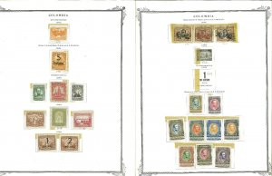 Colombia 1908-1961 M & U in Mounts on Scott Specialty Pages
