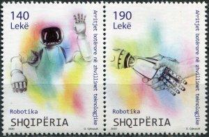 Albania 2020. Robotics (MNH OG) Block of 2 stamps