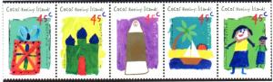 COCOS ISLAND 326 MH STRIP/5 SCV $4.75 BIN $2.25 CHILDREN'S ART