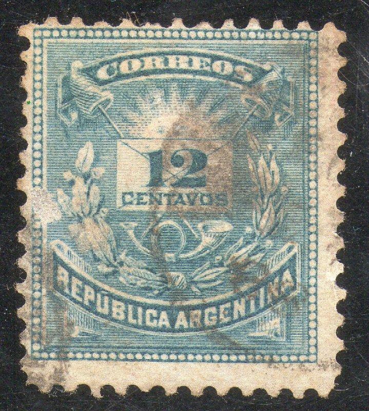 Argentina Sc #46 Used Light cancel