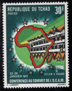 Chad TCHAD Scot 231 MNH** Map stamp