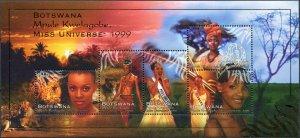 Botswana. 1999. Mpule Kwelagobe, Miss Universe (MNH OG) Miniature Sheet