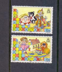 Gibraltar   #543-544  MNH  1989  Europa children`s games