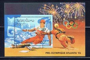 Laos 1226 MNH 1995 Baseball S/S