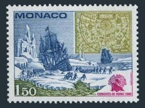 Monaco 1301,MNH.Michel 1486. Arctic Committee Congress,Ice Floes.Map,Walrus.