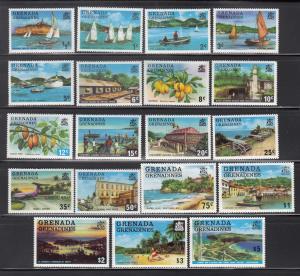 Grenada - Grenadines, Sc 109-127, MNH, 1975-6, Scenes