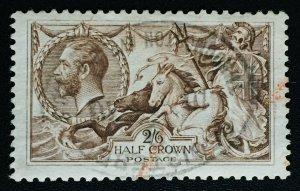 GB 1918 KGV BW SEAHORSES 2/6s Fine Used SG#413a GB3207
