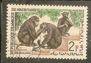 Mauritania   Scott 137   Baboons   CTO