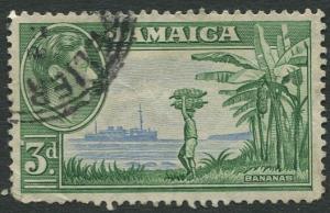 Jamaica -Scott 121 - KGVI Definitive -1938 - Used - Single 3p Stamp