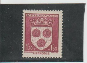France  Scott#  B139  MH  (1942 Arms of Grenoble)