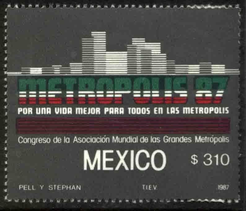 MEXICO 1479, Congress of Metropolitan Areas. Metropolis87. MINT, NH. VF.