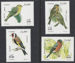 Algeria #1175-8 mint, set, various birds, issued 2000