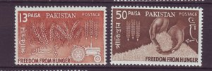 J22113 Jlstamps 1963 pakistan set mnh #176-7 farming