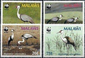 1987 Malawi WWF, Birds, Wattled Crane complete set VF/MNH! CAT 21$ LOOK!