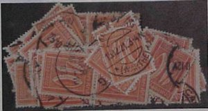 GERMAN INFLATION STAMPS USED  #163  x75 cat.$165.00