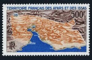 Afars & Issas C53,MNH.Michel 18. Aerial map of Djibouti,1968.