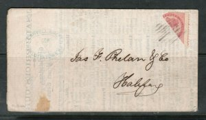 Prince Edward Island #5e Used Bisect On Cover **With Certificate**