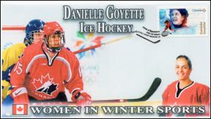 CA18-007, 2018, Women in Winter Sports, Danielle Goyette, Day of Issue, FDC,