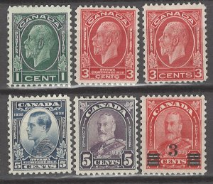 COLLECTION LOT # 3101 CANADA 6 MH STAMPS 1930+ CV+$19