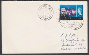 FIJI 1966 cover to Australia ex CUVU........................................R563