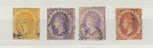 St Lucia QV 1860 4d/6d x 2/1/- FU J8516