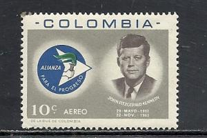 Columbia #C455 comp mnh cv $.25 John Kennedy
